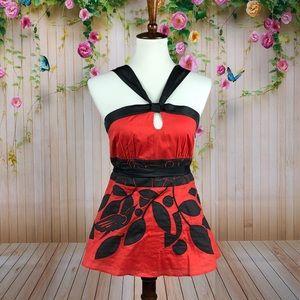 Anthro Floreat Cotton Silk Top Size 6